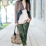 Light Layers | Blush Top + Camo Skinnies