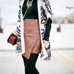 Winter Layers | Southwestern Cardigan + Asymmetrical Skirt