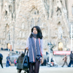Hola Barcelona | Striped Shirt + Coated Skinnies