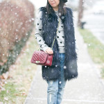 Heart of Winter Casual | Faux Fur Vest + Boyfriend Jeans