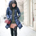 Paris Winter | Hunter Green Sweater + Asymmetrical Skirt
