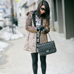 Mixed Prints | Leopard Parka + Printed Dress