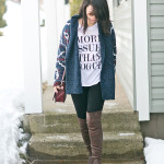 Sunday Casual | Tribal Cardigan + Graphic Tee