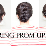 3 Easy Spring Prom Updo Tutorial (No-Heat)