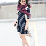 Spring Mix | Navy Stripes + Plum Leopard