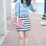Summer Casual | Chambray  + Nautical Stripes