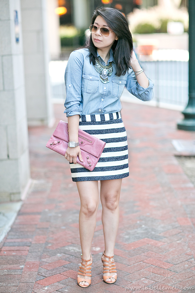 LaBelleMel_Summer_Casual_Chambray_Nautical_Stripes_1