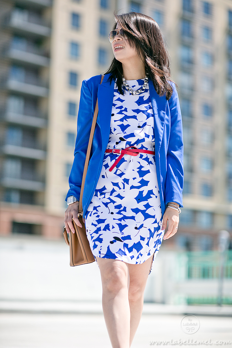 LaBelleMel_Wednesday_Workwear_Cobalt_Blue_Print_Dress_Red_Accent_2