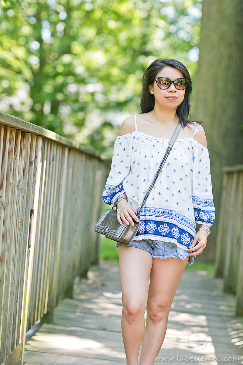 LaBelleMel_Summer_Casual_Boho_Top_Cutoff_Shorts_2