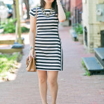 Workwear Wednesday | Black & White Mixed Stripe Dress