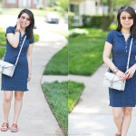 Casual Weekend | Polka Dot Polo Dress + Wood Watch