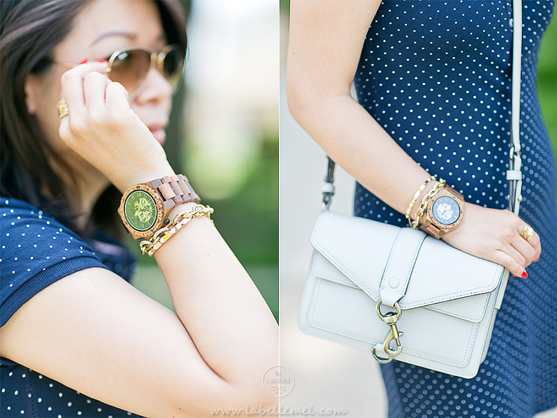 LaBelleMel_Casual_Sunday_Polka_Dot_Polo_Dress_Wood_Watch_2