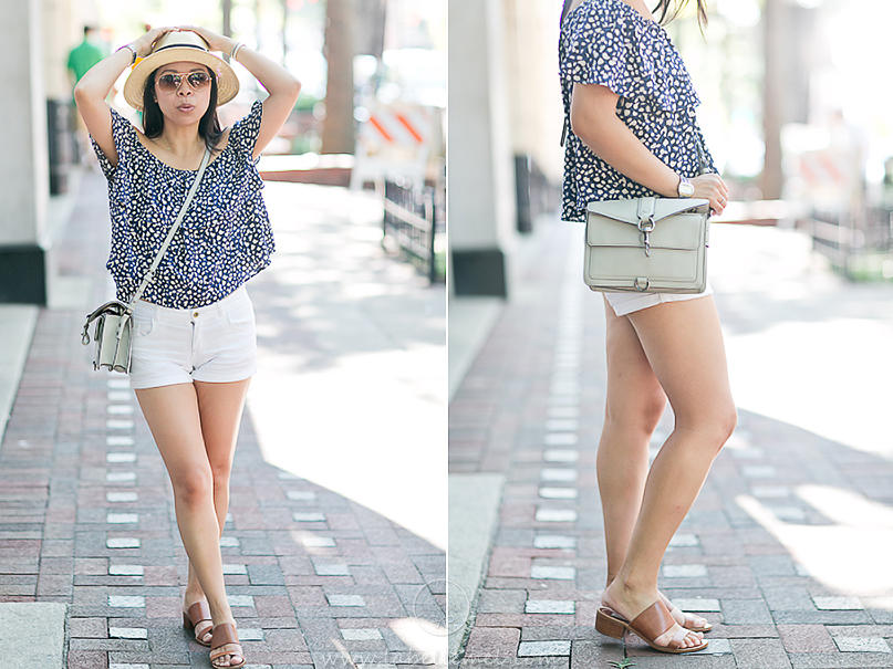 LaBelleMel_Summer_Casual_Flowy_Off_Shoulder_White_Shorts_2