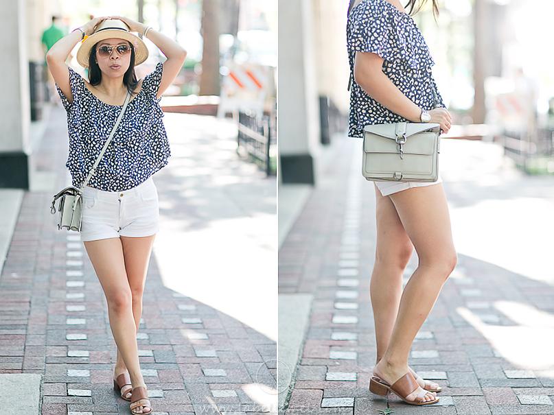 LaBelleMel_Summer_Casual_Flowy_Off_Shoulder_White_Shorts_2