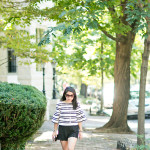 Sunday Matinee | Bell-Sleeved Striped Top + Pop of Blue