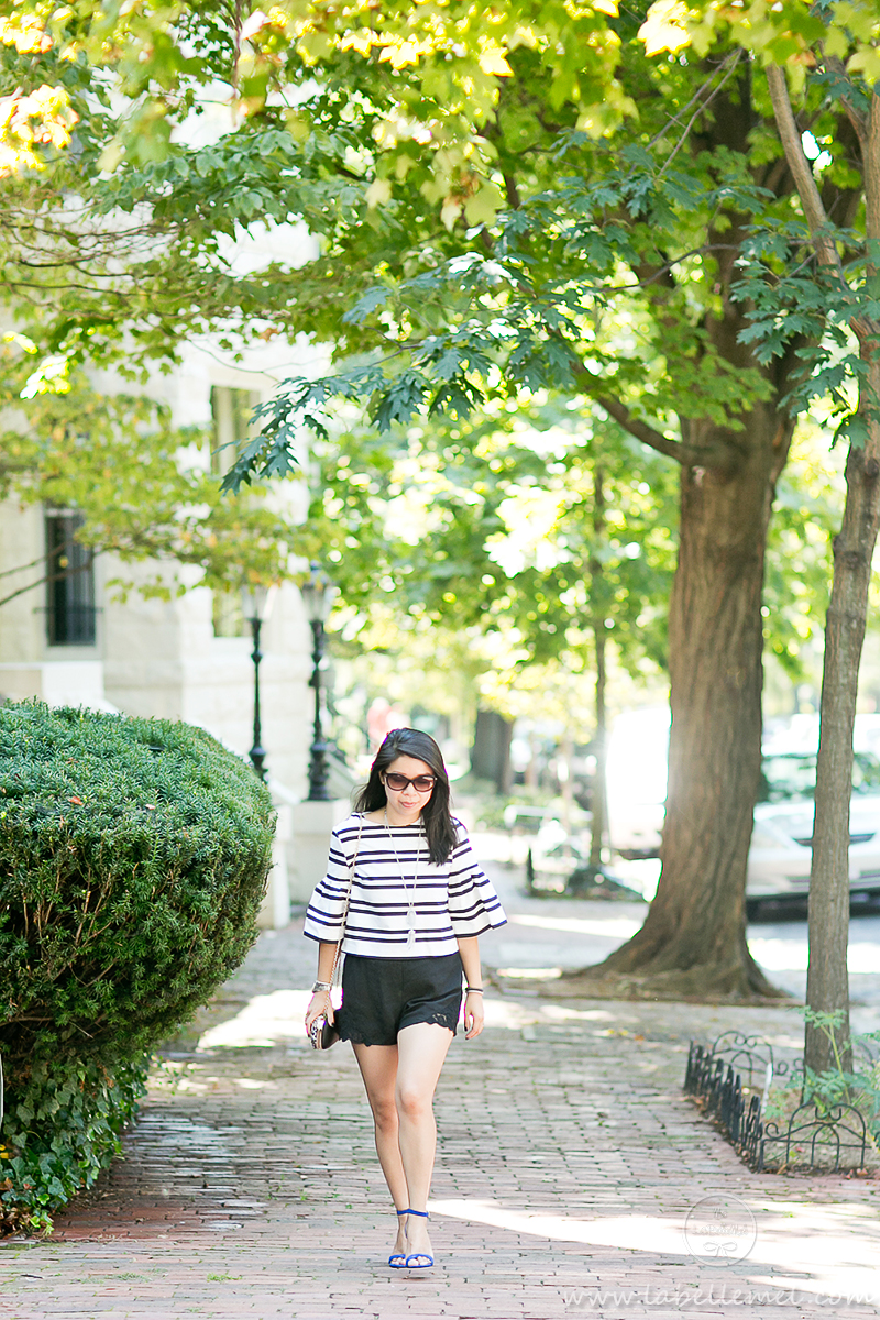 LaBelleMel_Kennedys_Bell_Sleeve_Striped_Top_Pop_of_Blue_1