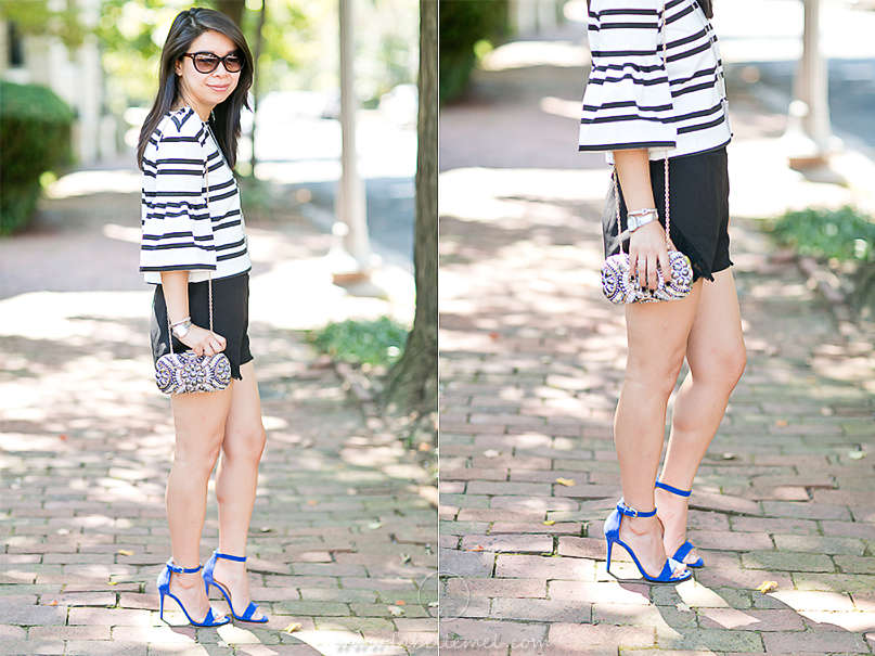 LaBelleMel_Kennedys_Bell_Sleeve_Striped_Top_Pop_of_Blue_5