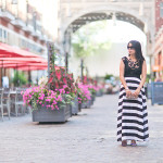 Summer Nights | Black + White Maxi Dress