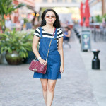 Summer to Autumn   Crop Top + Overall Dress