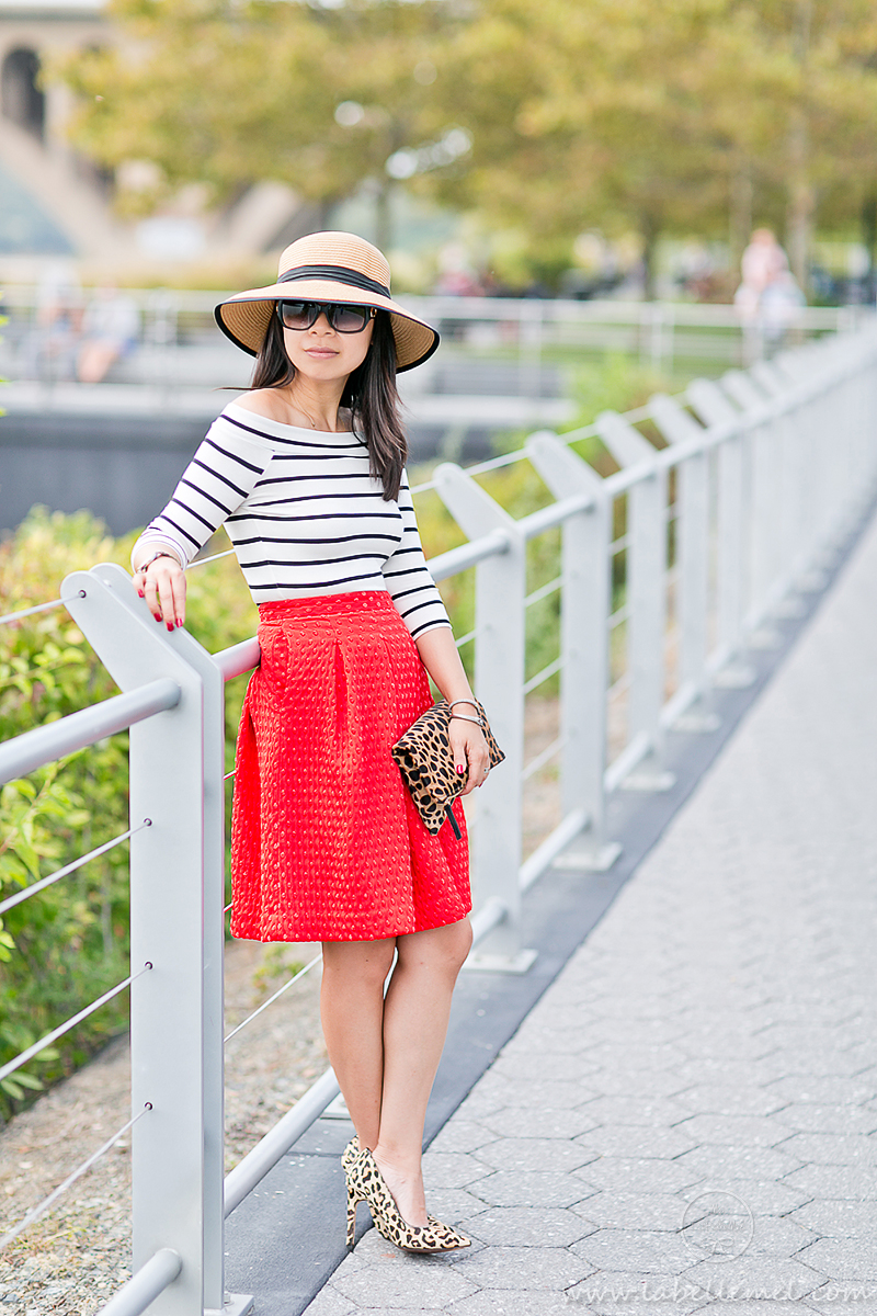 LaBelleMel_A_La_Autumn_Off_Shoulder_Stripes_Top_Cherry_Red_Full_Skirt_1_1