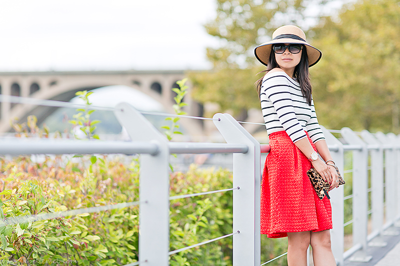 LaBelleMel_A_La_Autumn_Off_Shoulder_Stripes_Top_Cherry_Red_Full_Skirt_2