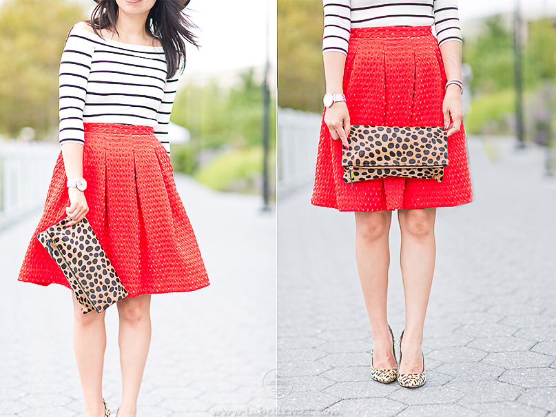 LaBelleMel_A_La_Autumn_Off_Shoulder_Stripes_Top_Cherry_Red_Full_Skirt_6