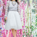 Autumn Greys | Lace Top + Tulle Skirt
