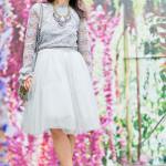 Autumn Greys   Lace Top + Tulle Skirt