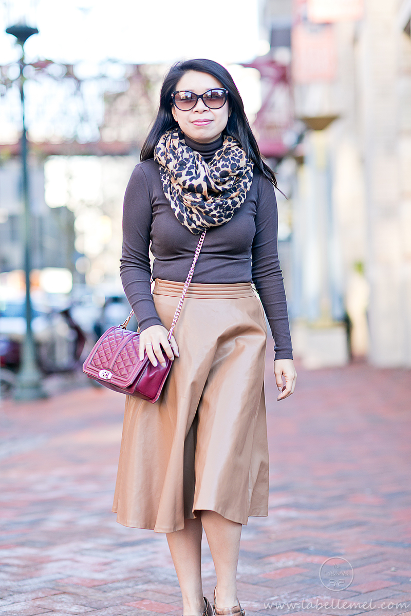 LaBelleMel_Brunch_Ready_Pleather_Midi_Skirt_Monochromatic_Browns_3