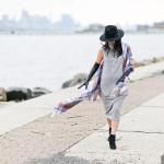 Cozy Autumn | Midi Turtleneck Dress + Blanket Scarf