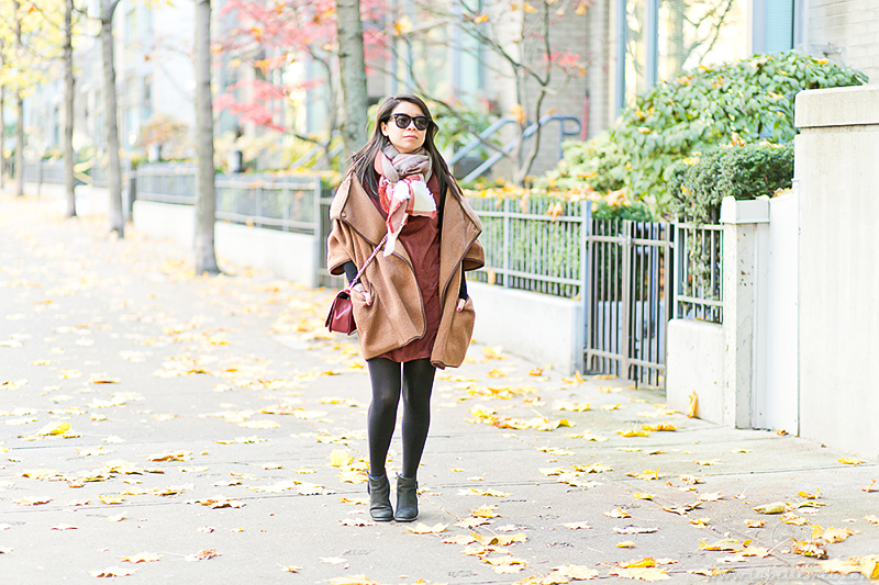 LaBelleMel_Fall_Vancouver_Suede_Dress_Wool_Poncho_Cape_1