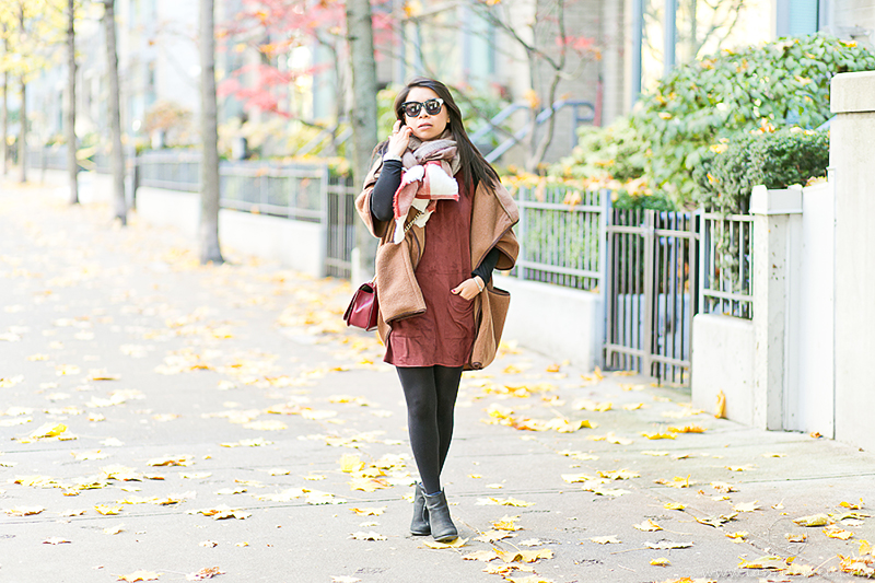 LaBelleMel_Fall_Vancouver_Suede_Dress_Wool_Poncho_Cape_2