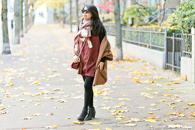 LaBelleMel_Fall_Vancouver_Suede_Dress_Wool_Poncho_Cape_3