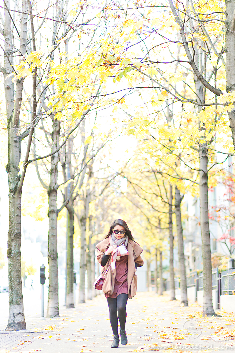 LaBelleMel_Fall_Vancouver_Suede_Dress_Wool_Poncho_Cape_5