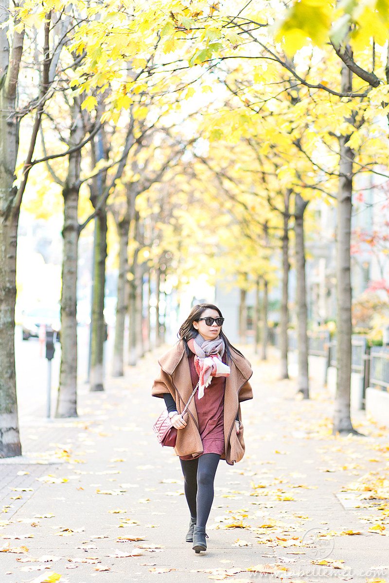 LaBelleMel_Fall_Vancouver_Suede_Dress_Wool_Poncho_Cape_6