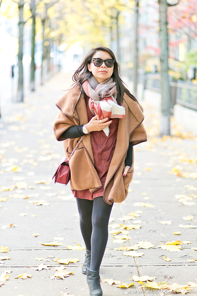 LaBelleMel_Fall_Vancouver_Suede_Dress_Wool_Poncho_Cape_8