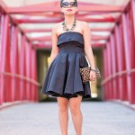 NYE's Glam | Strapless Jumpsuit Dress + Leopard Accents