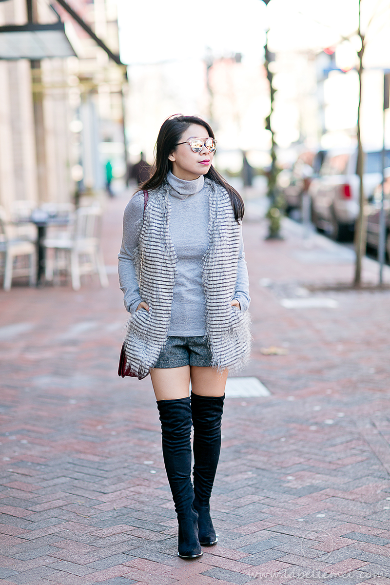 LaBelleMel_Winter_Staples_Faux_Fur_Vest_Thigh_High_Boots_1