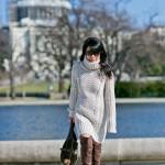 Cozy Sunday | Sweater Dress + OTK Boots