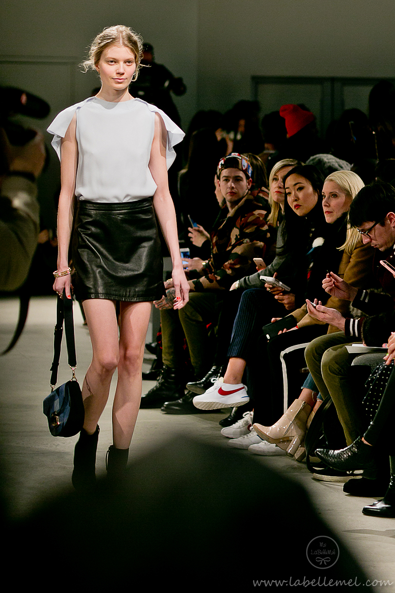 LaBelleMel_NYFW_FW_2016_Rebecca_Minkoff_Mauve_Boucle_Top_Pleather_Skirt_11