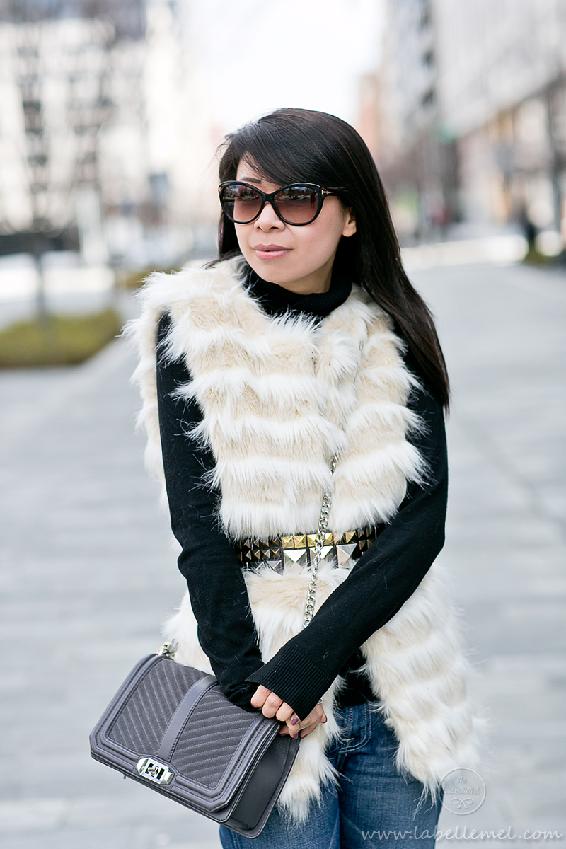 LaBelleMel_Saturdaze_Striped_Faux_Fur_Vest_Flared_Jeans_4