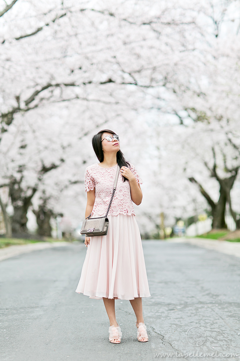 LaBelleMel_DC_Cherry_Blossoms_Pink_Crochet_Lace_Top_on_Pink_Midi_Skirt_3