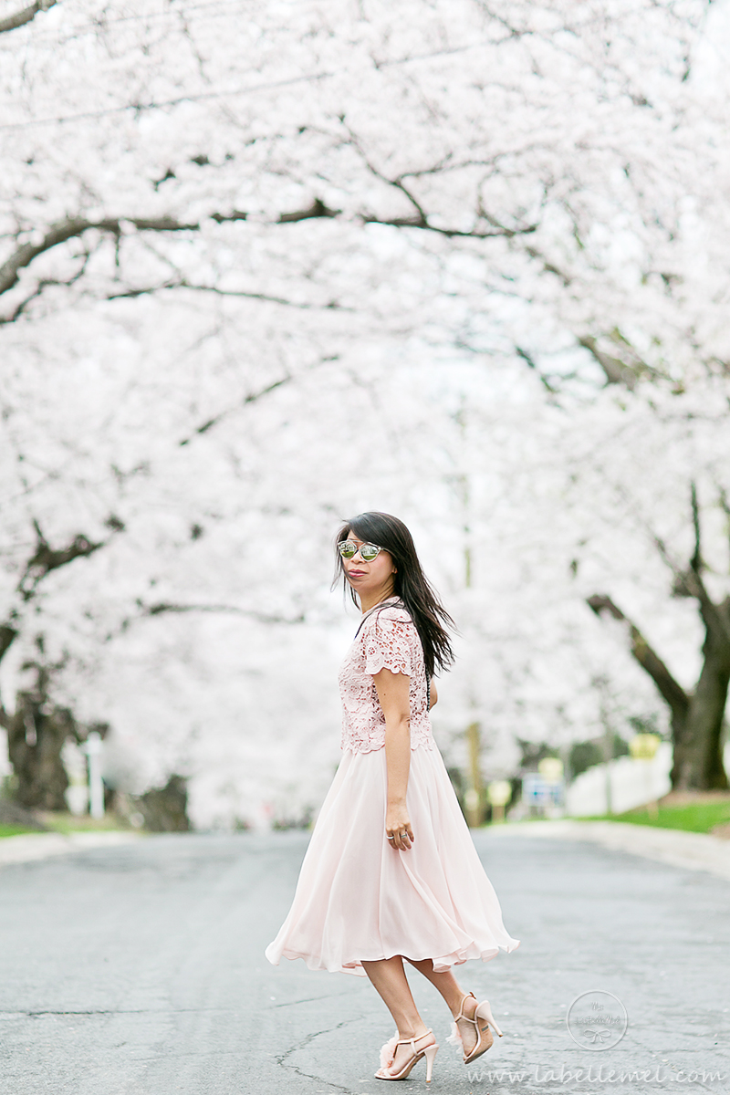 LaBelleMel_DC_Cherry_Blossoms_Pink_Crochet_Lace_Top_on_Pink_Midi_Skirt_5