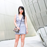 DTLA | Striped Wrapped Romper