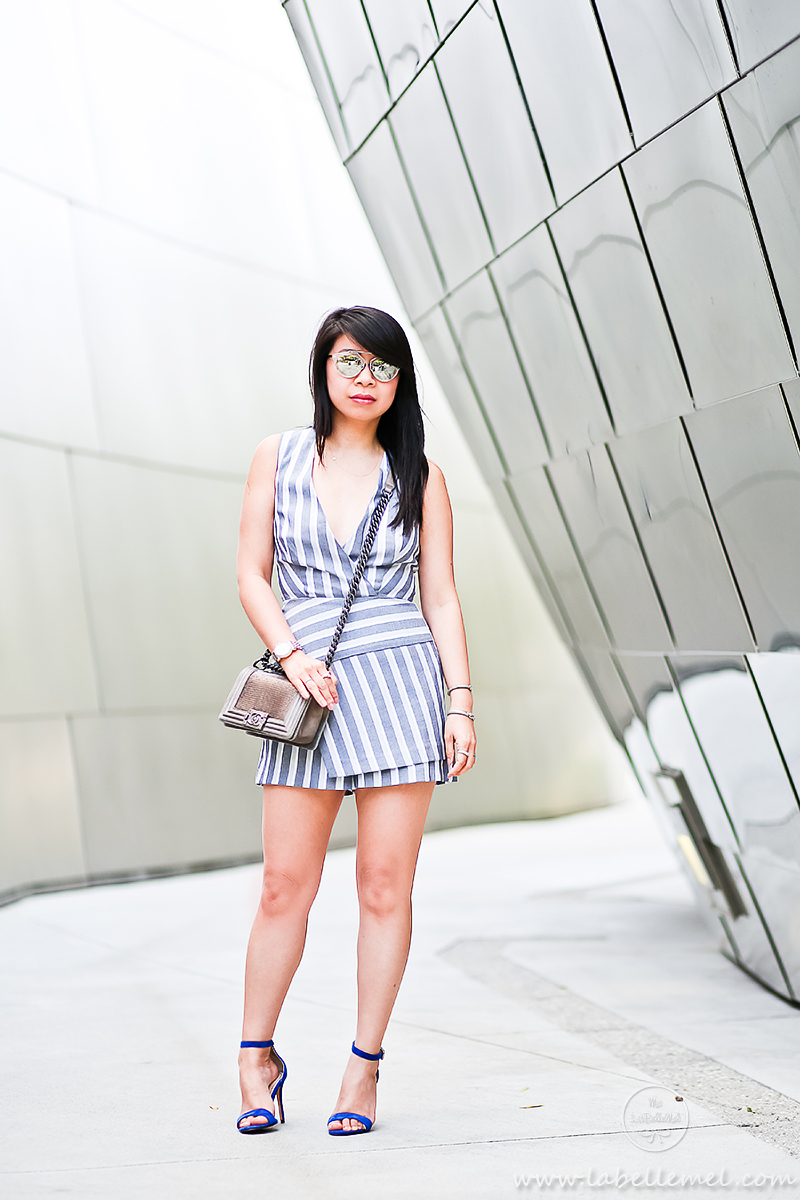 LaBelleMel_DTLA_Striped_Wrapped_Romper_1