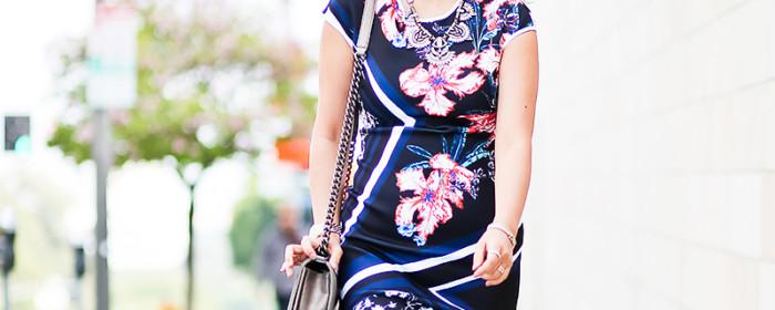 LaBelleMel_LA_Spring_Wedding_Scuba_Printed_Dress_1