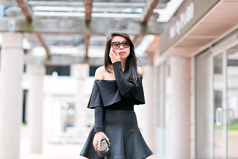 LaBelleMel_Date_Night_Off_Shoulder_Scuba_Top_Pleather_Skirt_2