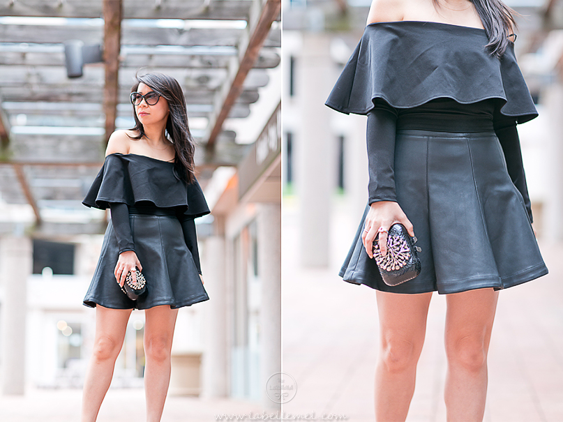 LaBelleMel_Date_Night_Off_Shoulder_Scuba_Top_Pleather_Skirt_4