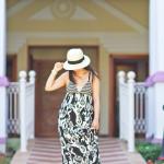 Ocho Rios Jamaica | Maxi Ikat Print Dress