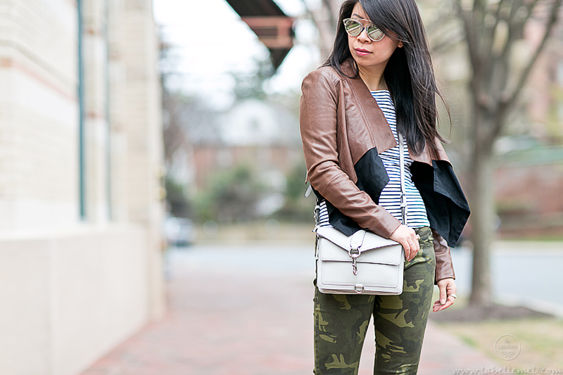 LaBelleMel_Spring_Casual_Flared_Leather_Jacket_Camo_Skinnies_3